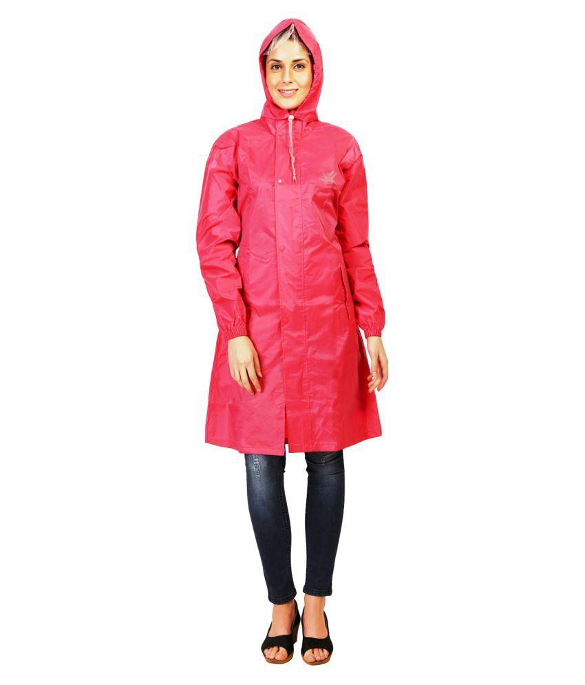 Zeel Pink Polyester Short Rainwear