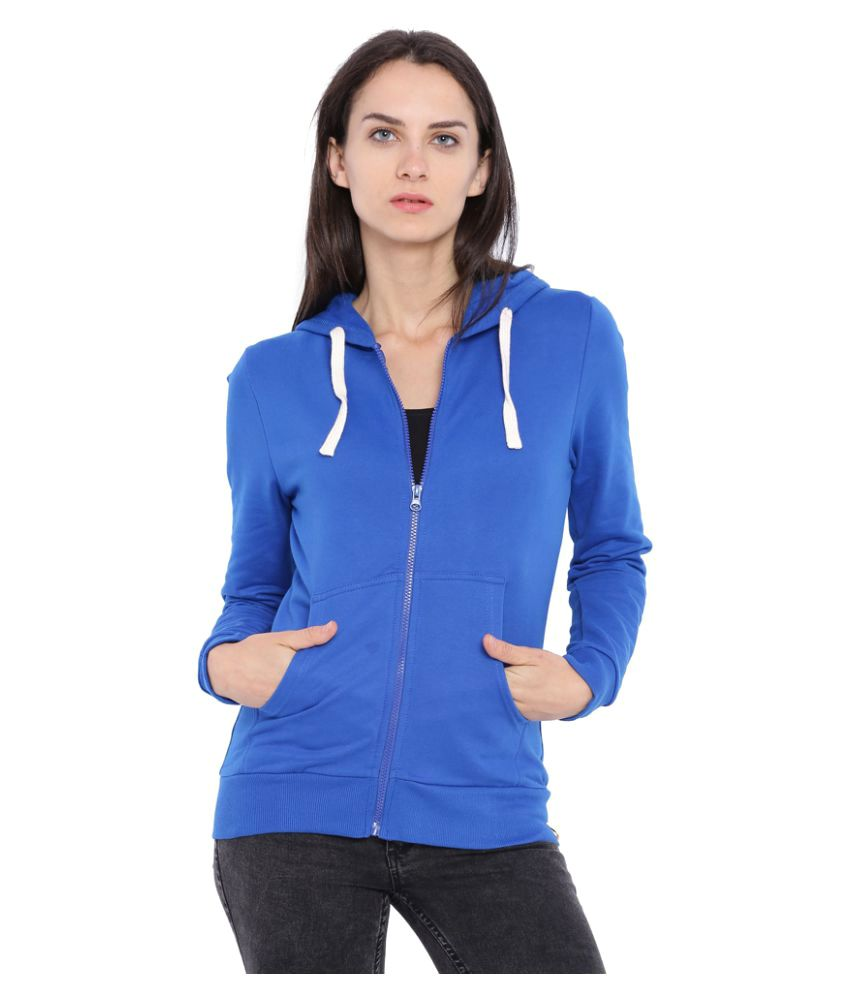Campus Sutra Blue Cotton Zippered