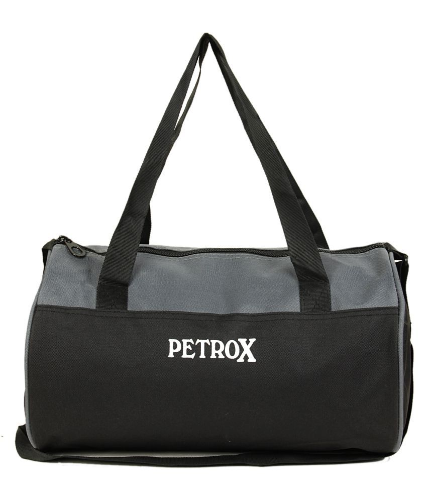 Petrox grey & black Gym Bag
