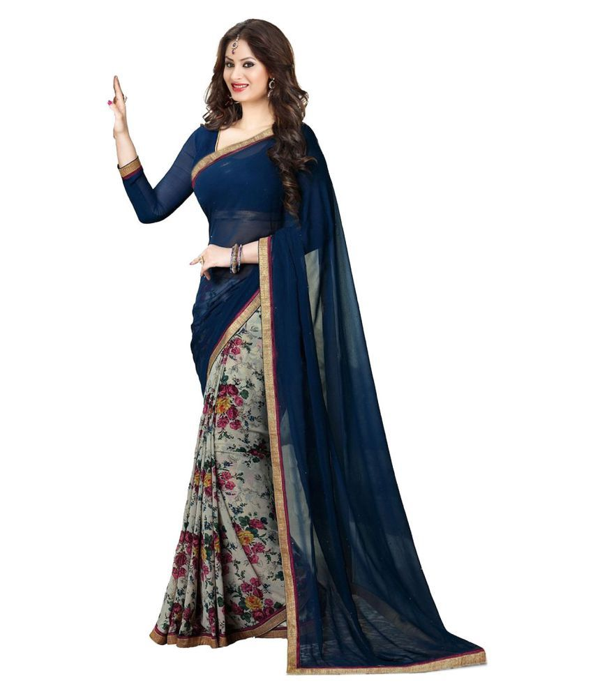 Sareeshop Designer sarees Multicoloured Georgette Saree ...