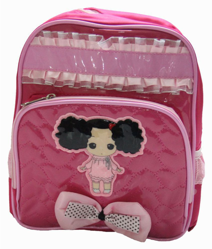 Gamme Pink Polyester Backpack