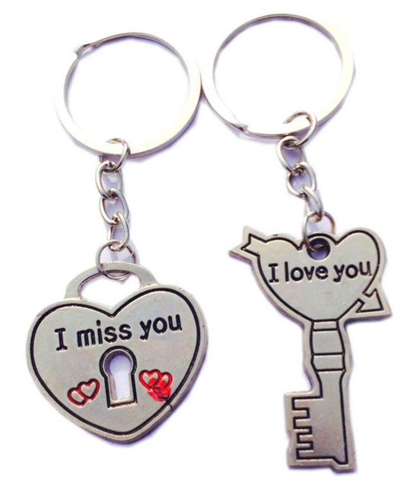 Meaw I Miss U Lock Nd I Love U Key Chain Buy Meaw I Miss U Lock Nd