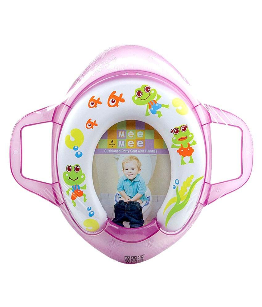 Mee Mee Multicolour Cushioned Potty Seat with Support Handles