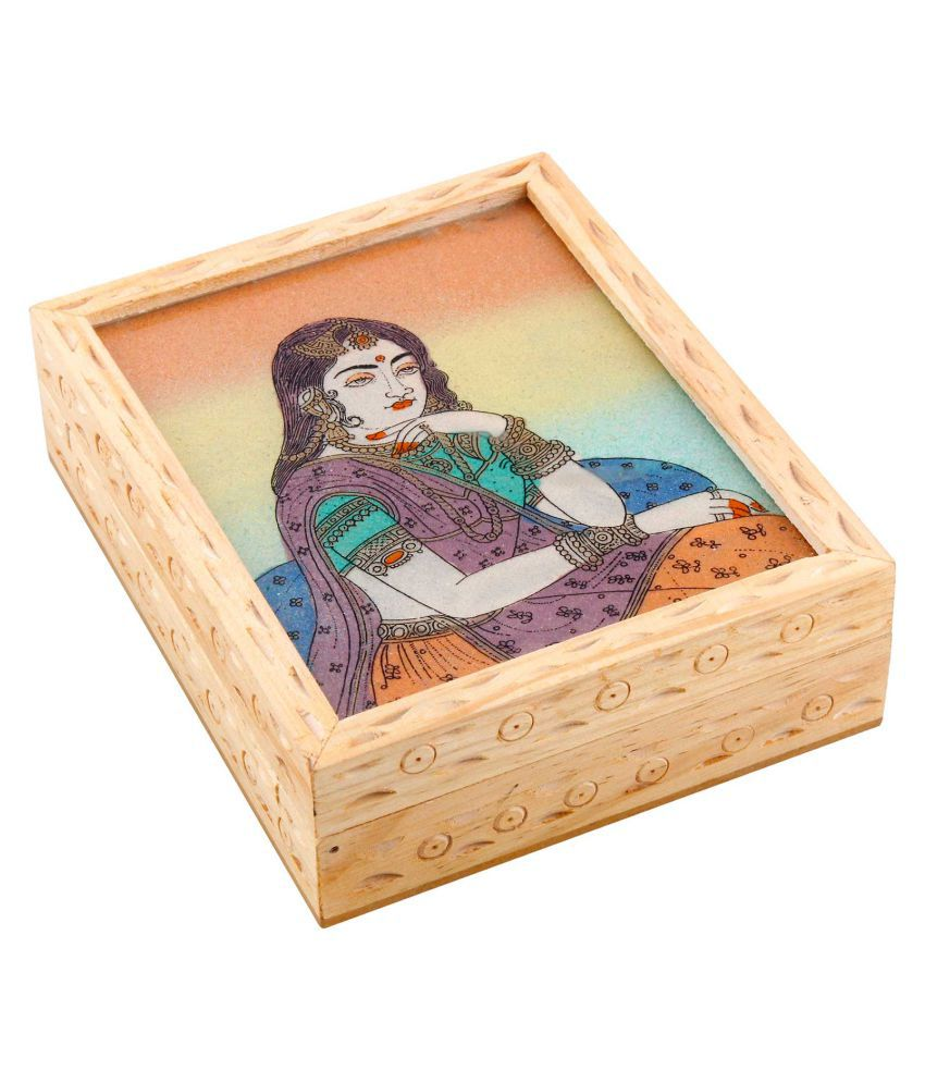 Deal Done Beige Wooden Jewellery Box
