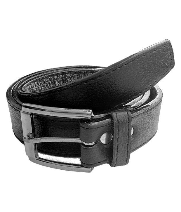 Rhinoceros Black PU Formal Belts