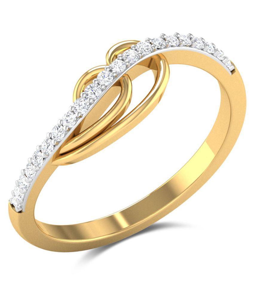Zaamor Diamonds 18k Yellow Gold Diamond Ring