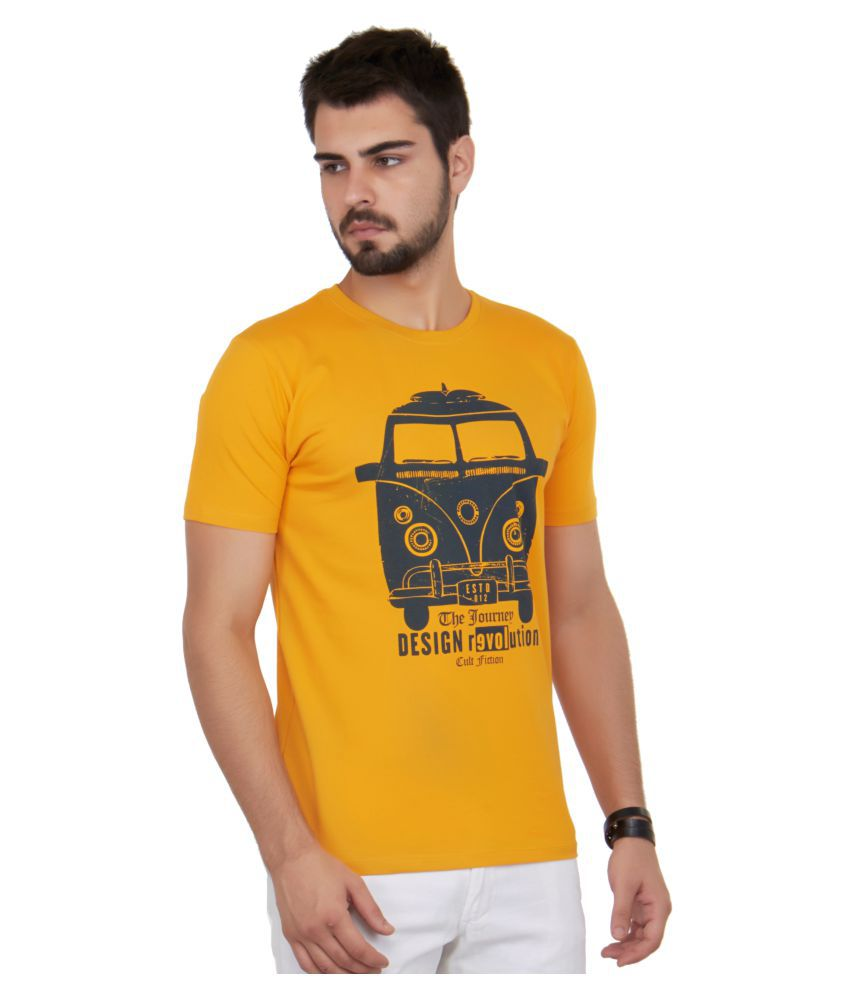 Cult Fiction Yellow Round T-Shirt
