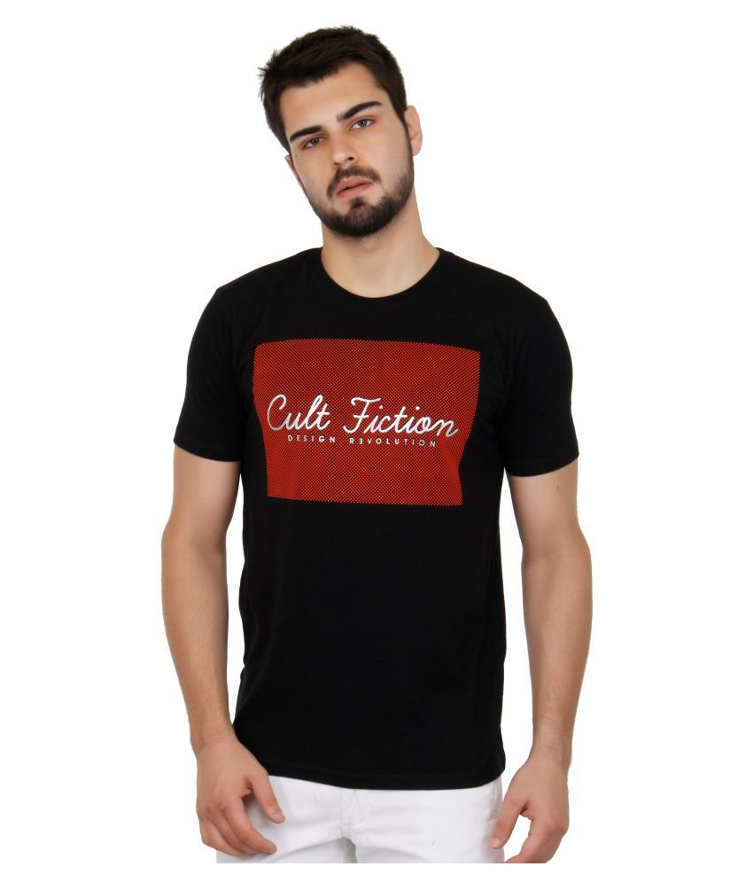 Cult Fiction Black Round T-Shirt