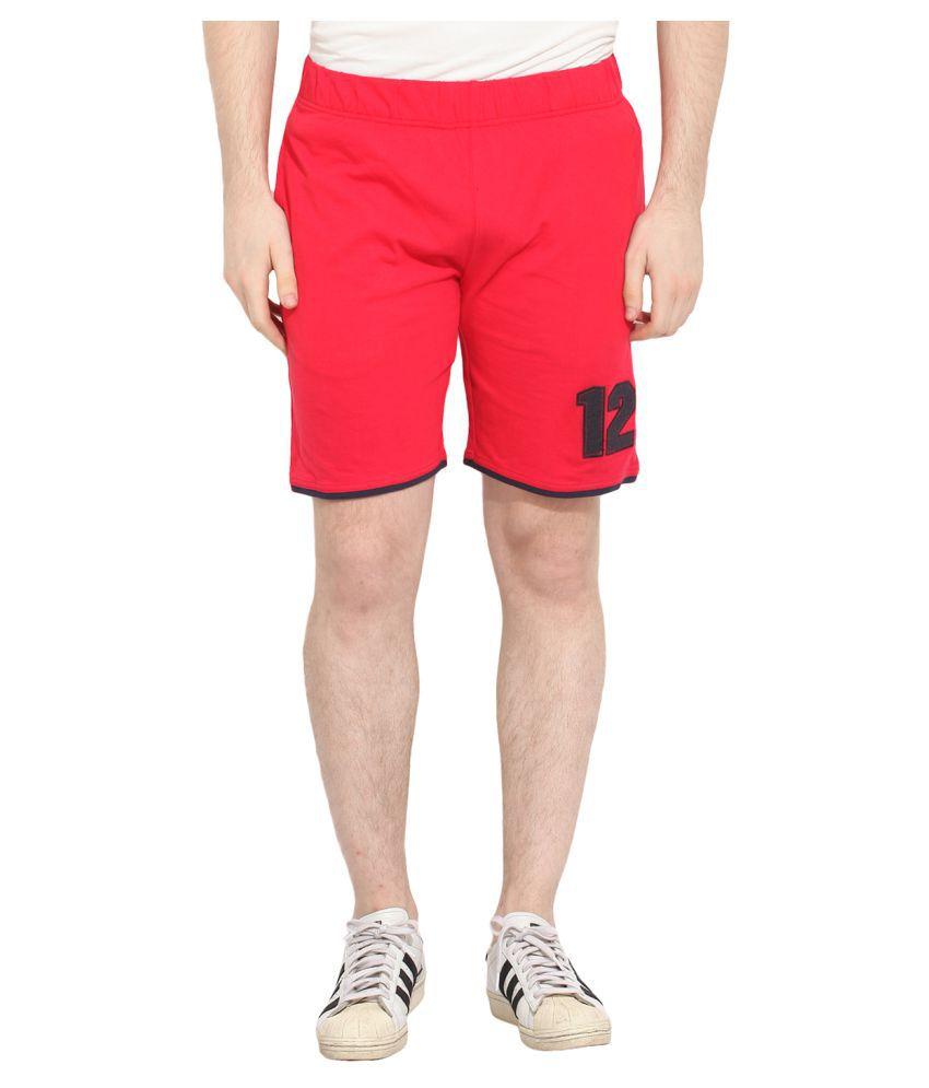 Camino Red Shorts