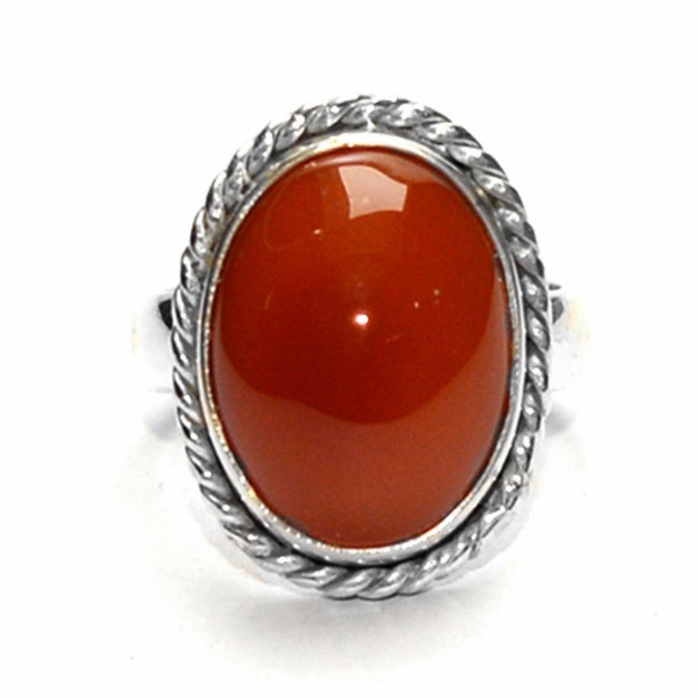 Gomesgems 92.5 Silver Carnelian Ring