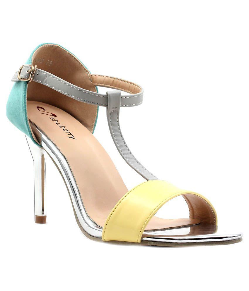 Shuberry Multi Color Stiletto Heels