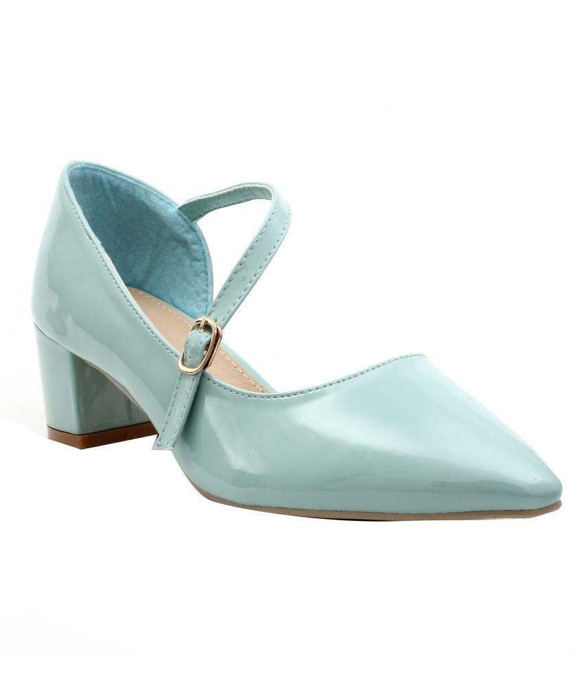 Shuberry Turquoise Block Heels