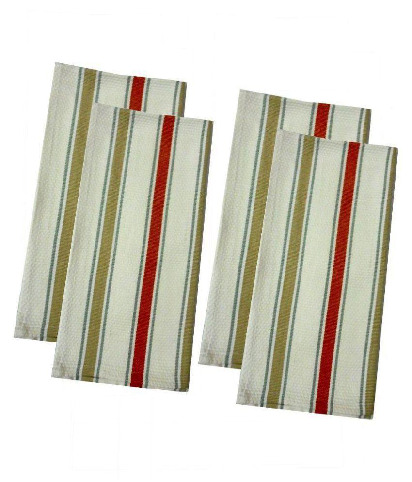 Tidy Set of 4 45x66 Cotton Kitchen Towel