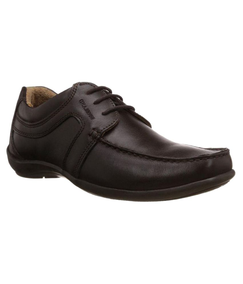 woodland brown derby genuine leather formal shoes price in
