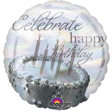 Happy Birthday Cake Candles 18quot Mylar Balloon