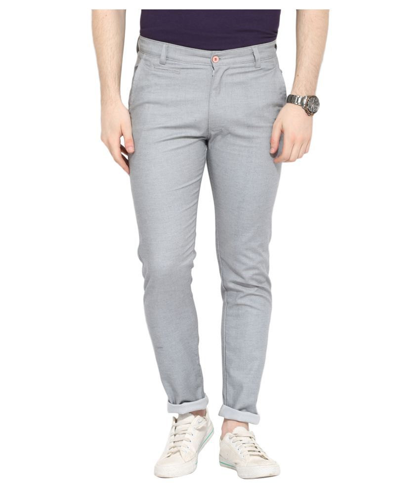 Ennoble Grey Slim Flat Trouser