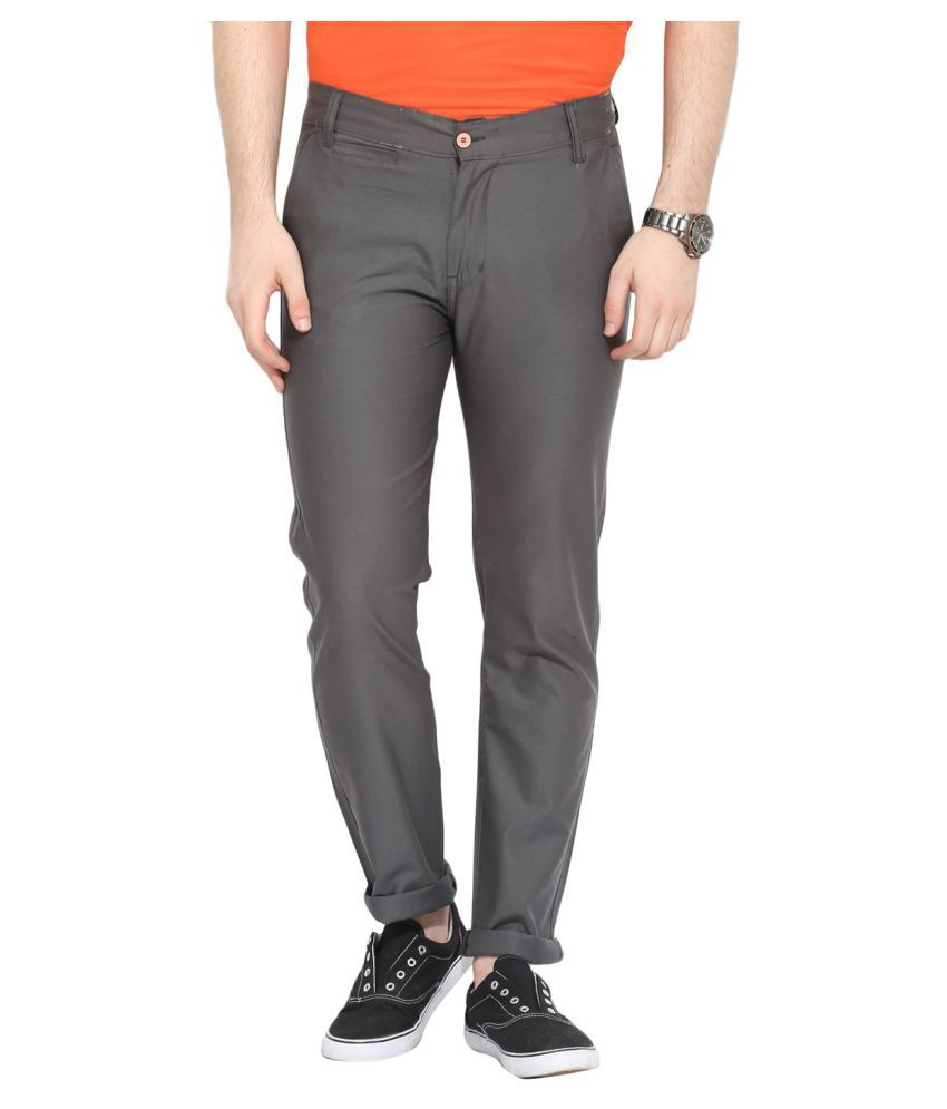 Ennoble Grey Slim Flat Trouser