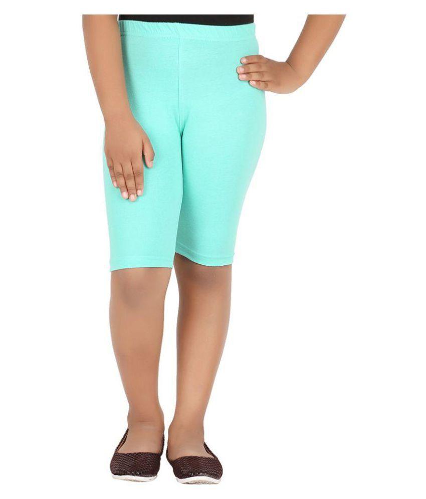 Knit ABC Turquoise Cotton Shorts