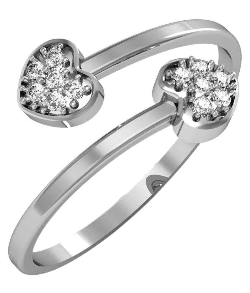 Avsar 14k White Gold Ring