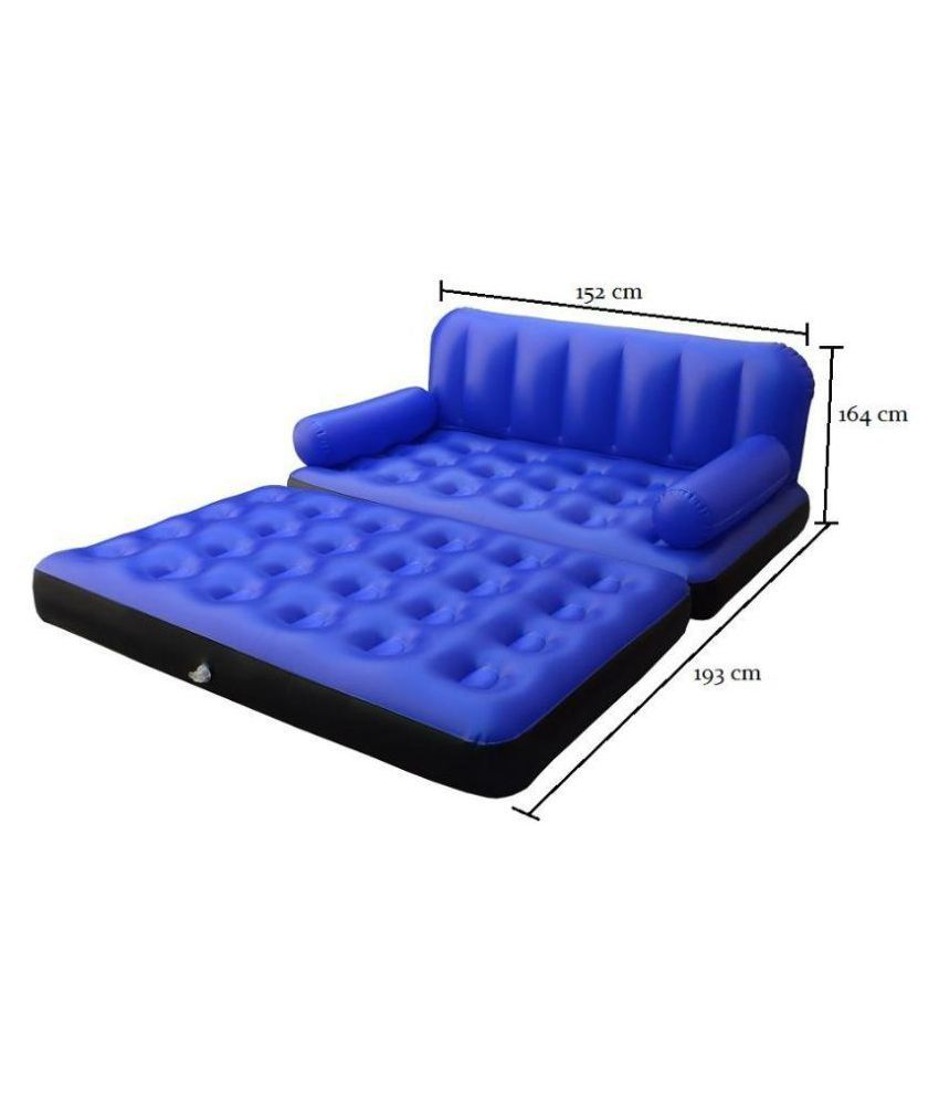 ibs blue 5 in 1 air sofa bed non velvet pvc inflatable with 2