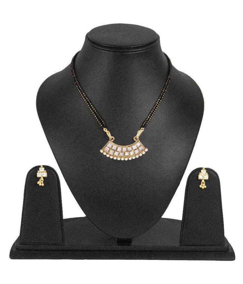 Penny Jewels Golden Mangalsutra Set