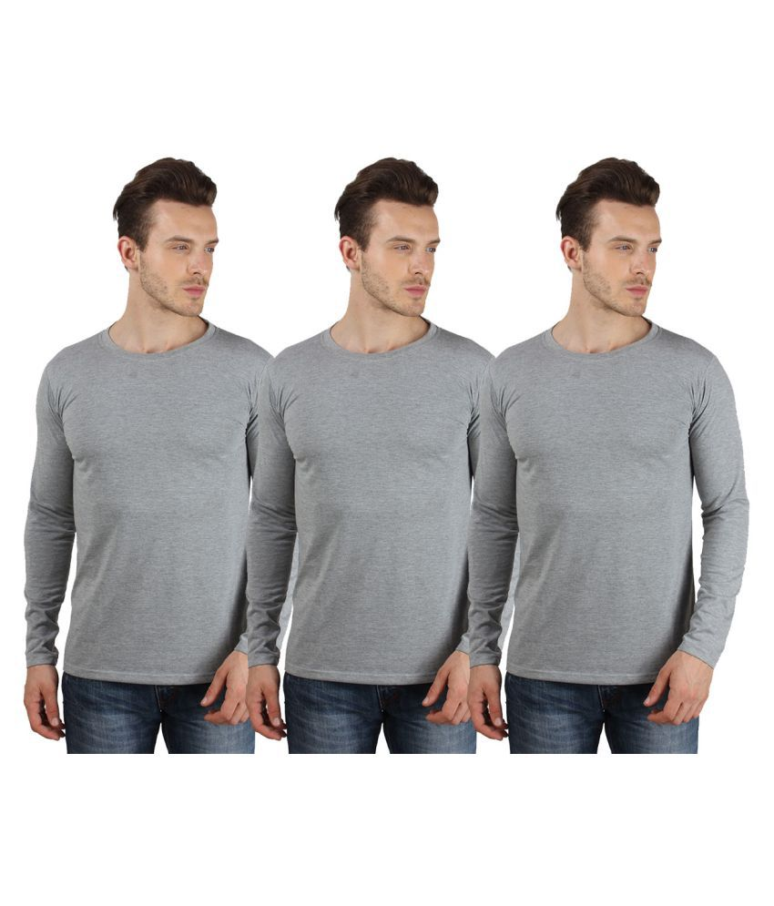 Say It Loud Grey Round T-Shirt Pack of 3