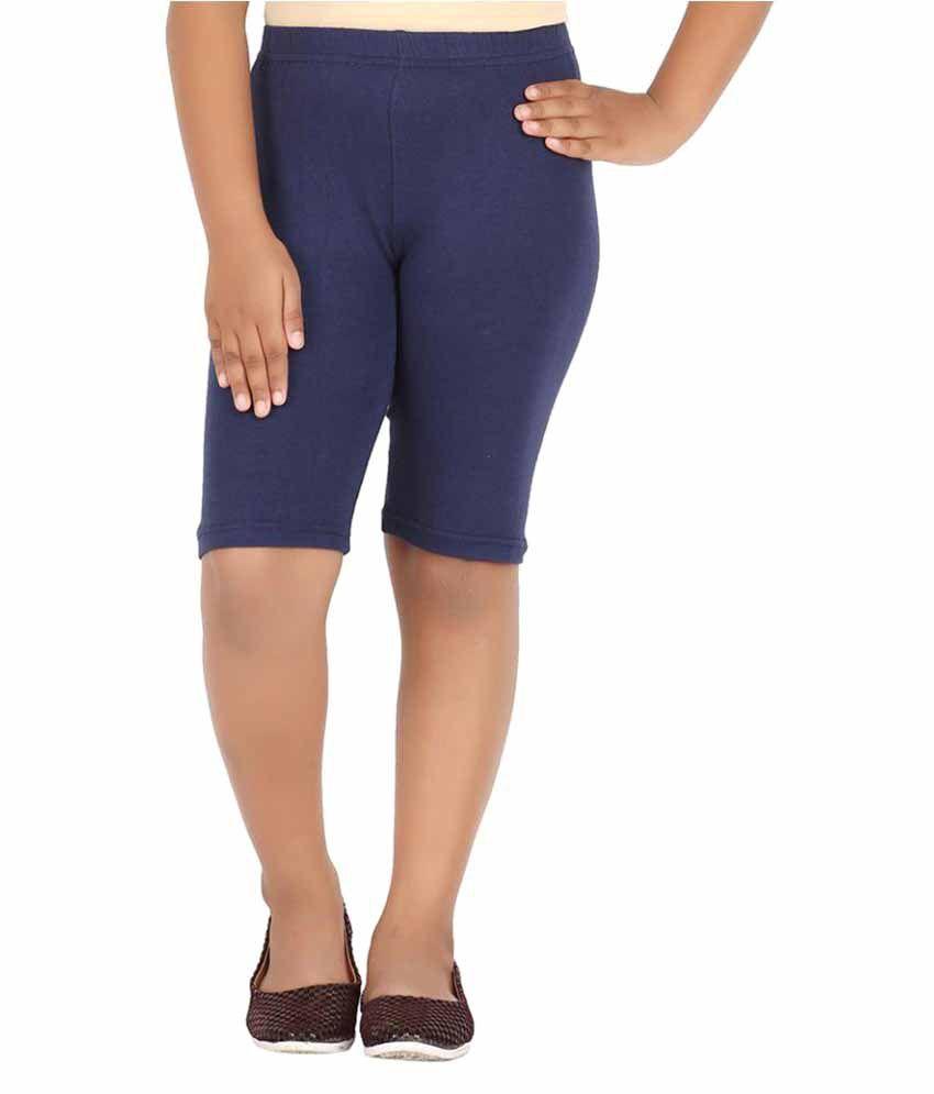 Knit ABC Navy Cotton Shorts