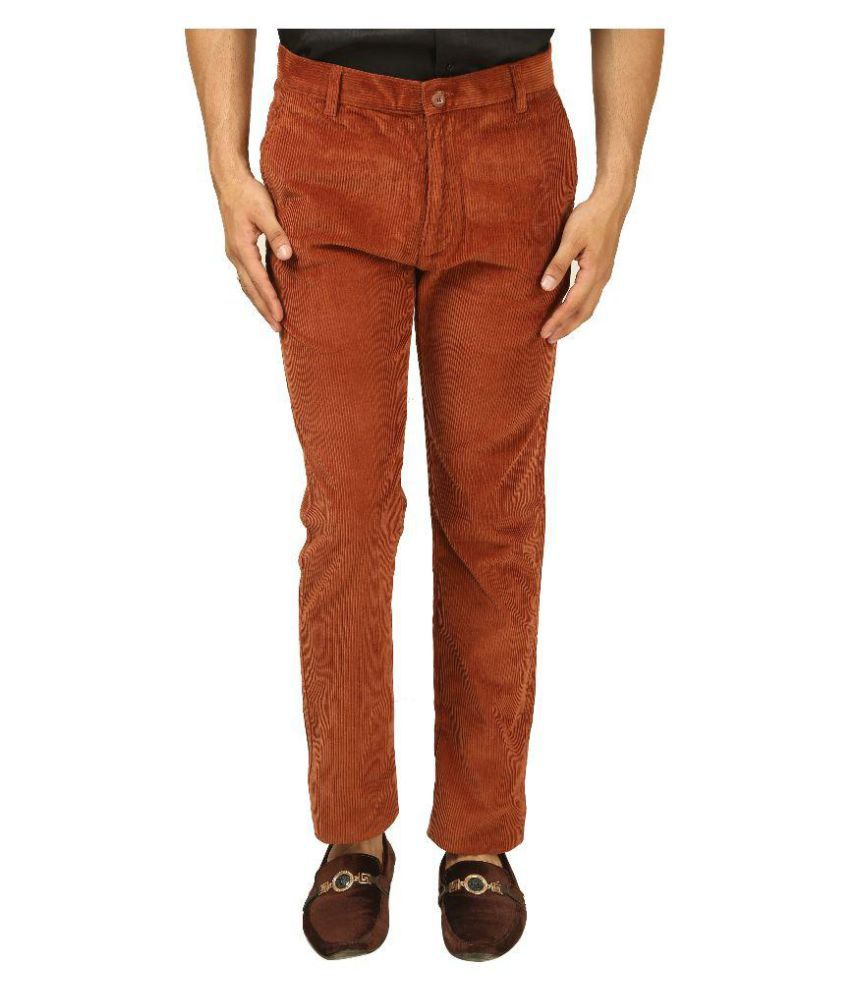 Koutons Outlaw Brown Regular Flat Trouser