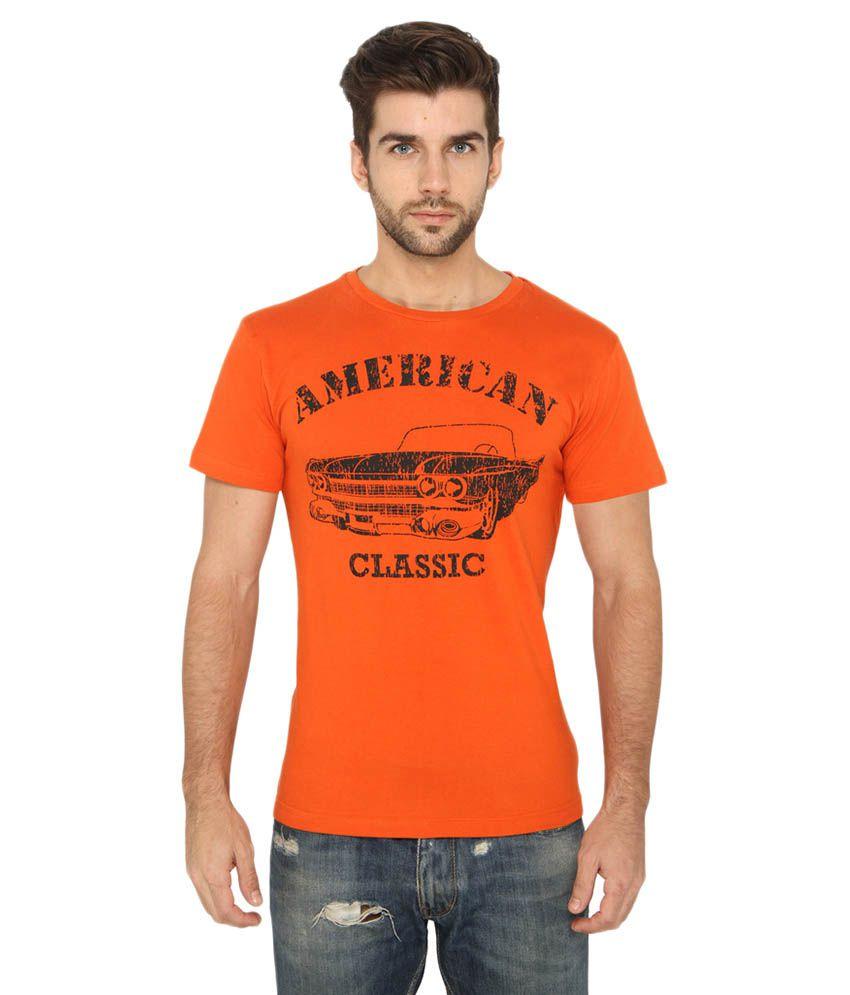Imagica Orange Round T-Shirt