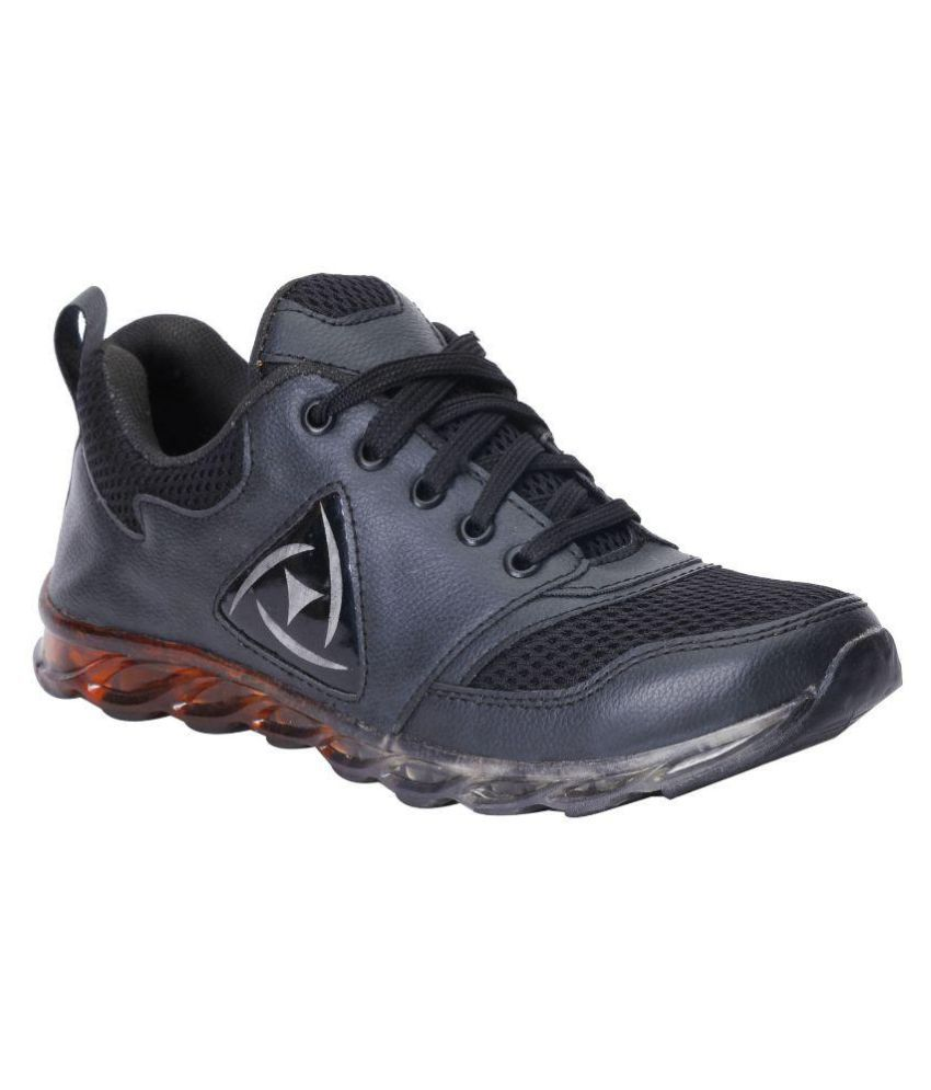 Kraasa Sports838 Black Running Shoes