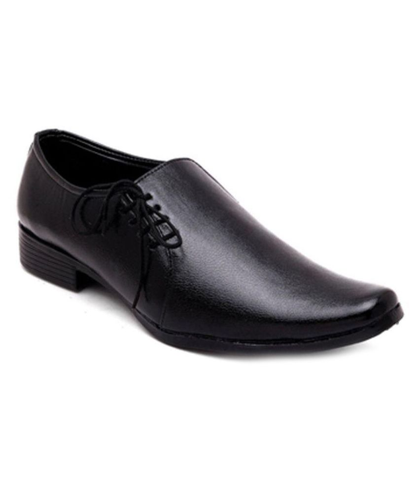 wonker black office genuine leather formal shoes price in