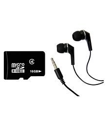 Mocell 16 GB Class 4 Micro SDHC Card with Earphones