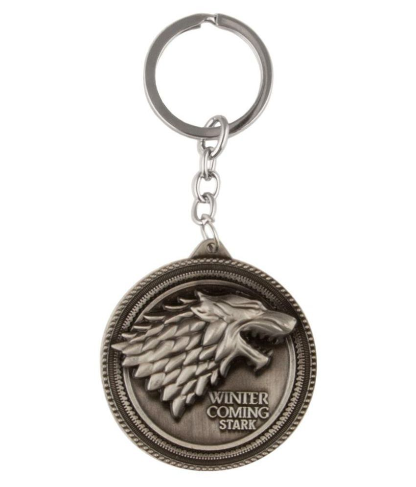 Birde Winter Coming Stark Metal Keychain