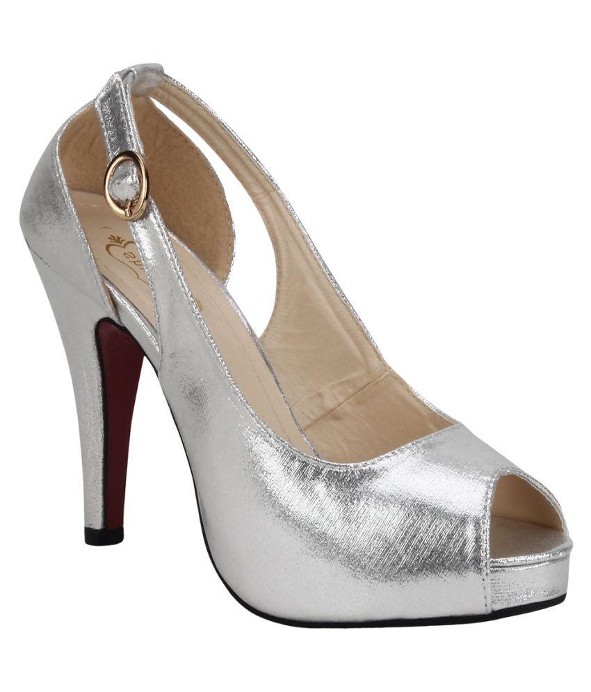 Shumiya Silver Stiletto Heels