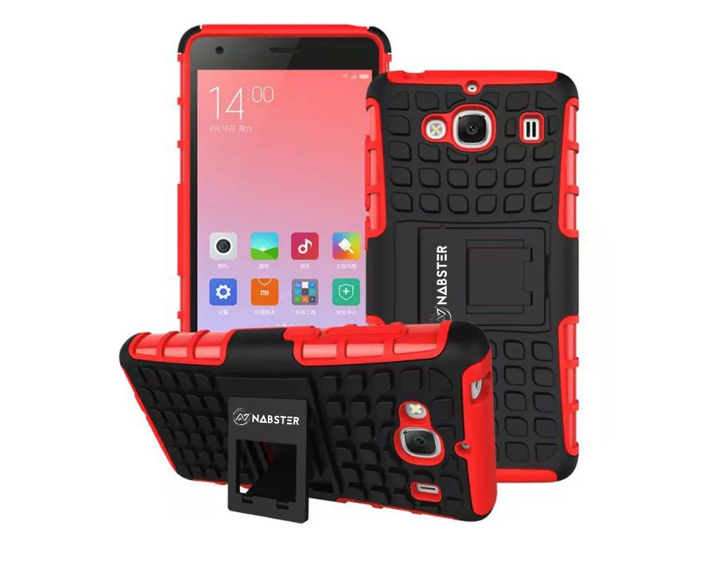Xiaomi Redmi 2 Prime Case Nabster Rugged Hybrid Armor Shockproof Protector With