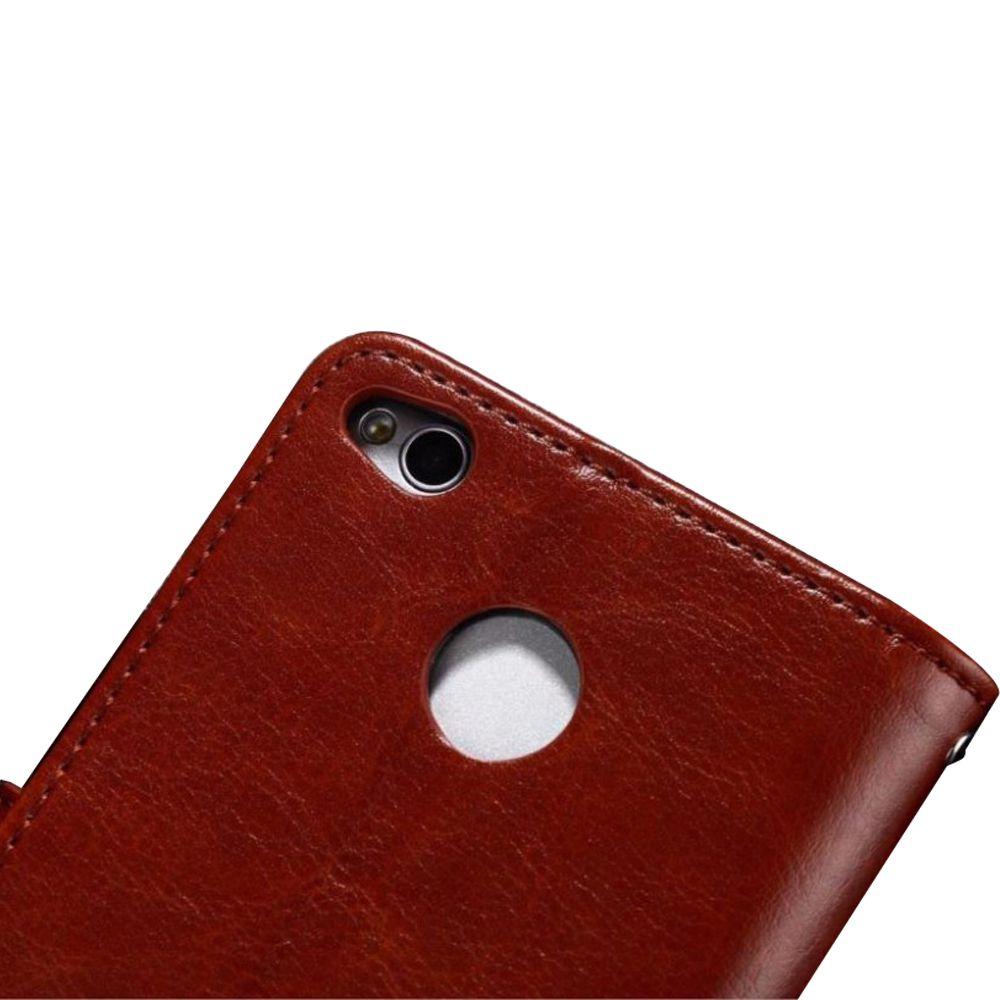 Xiaomi Redmi 3S Prime Flip Cover by Shopizone -Brown .