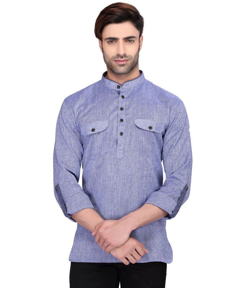 RG Designers Purple Cotton Kurta