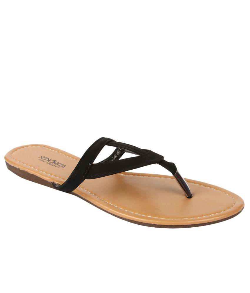 Senorita By Liberty G1-90111 Black Slippers for Ladies
