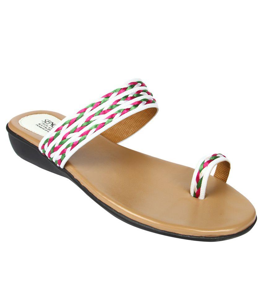 Senorita By Liberty White Ladies Slipper