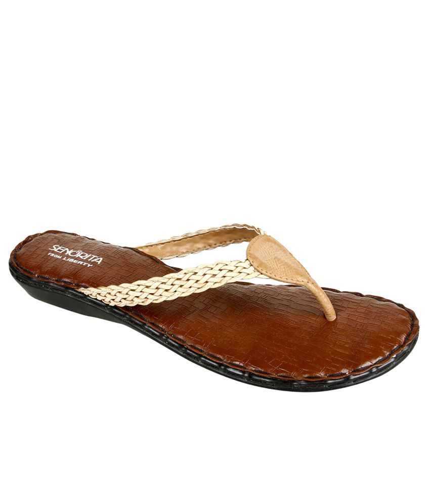 Senorita By Liberty Beige Slippers