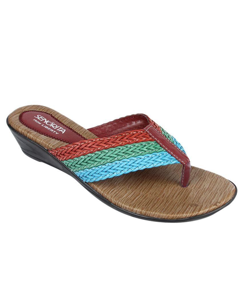 Senorita By Liberty Multicolour Slippers