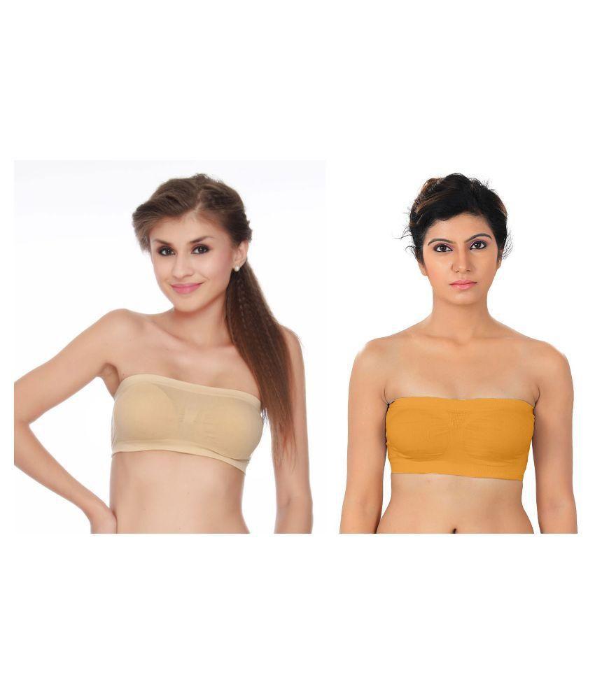 Dealseven Fashion Multi Color Lycra T-Shirt/ Seamless Bra