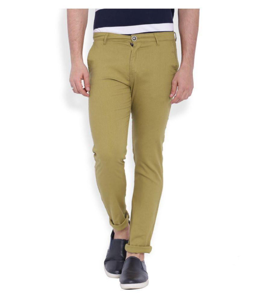 Deep Navy Khaki Slim Flat Trouser