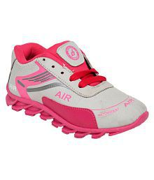 Bunnies Pink Sports Shoes for Girls