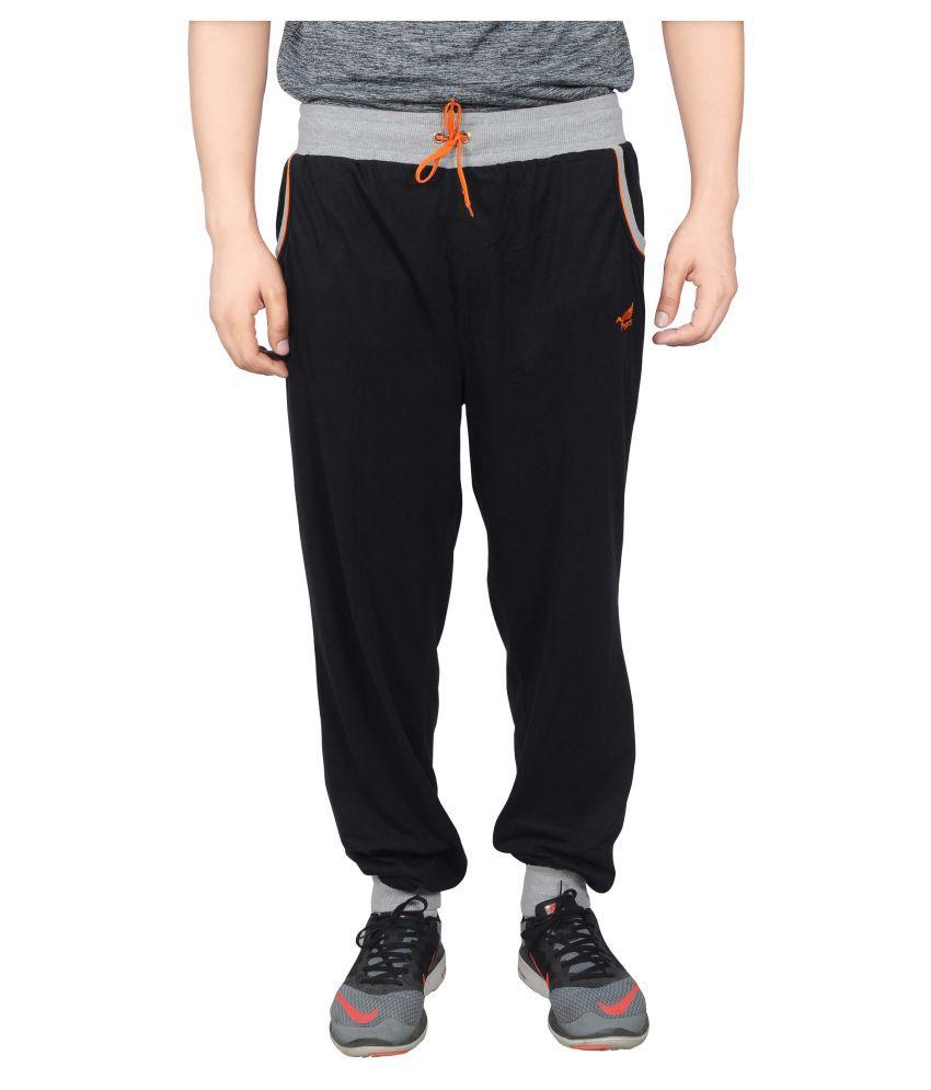 NNN Black Cotton Trackpants