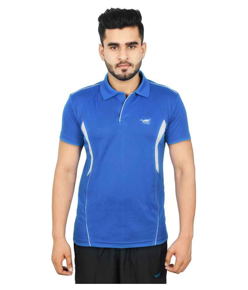 NNN Blue Polyester T-Shirt