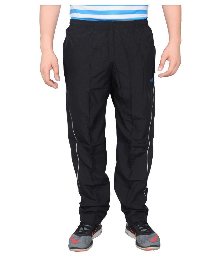 NNN Black Polyester Track Pants