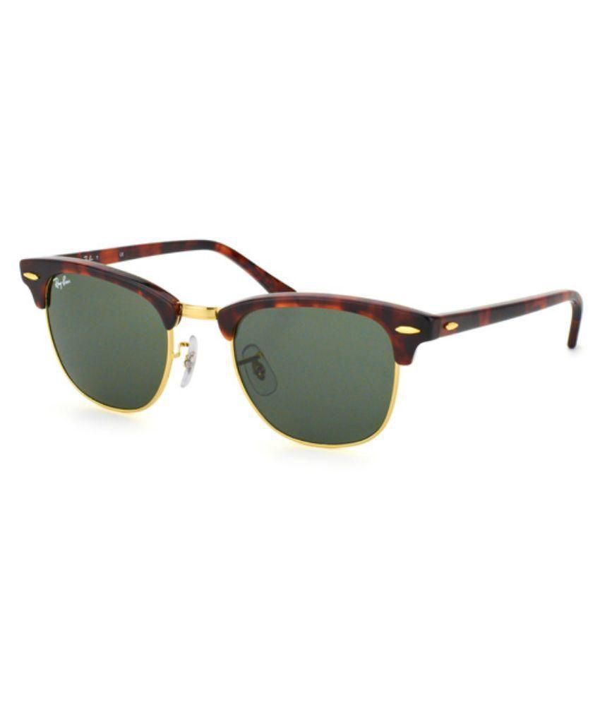 ray ban clubmaster small size  Ray-Ban Green Clubmaster Sunglasses ( RB3016 W0366 ) - Buy Ray-Ban ...