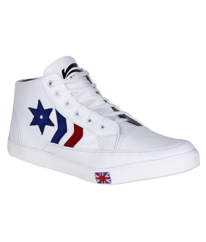 Kraasa Lifestyle White Casual Shoes