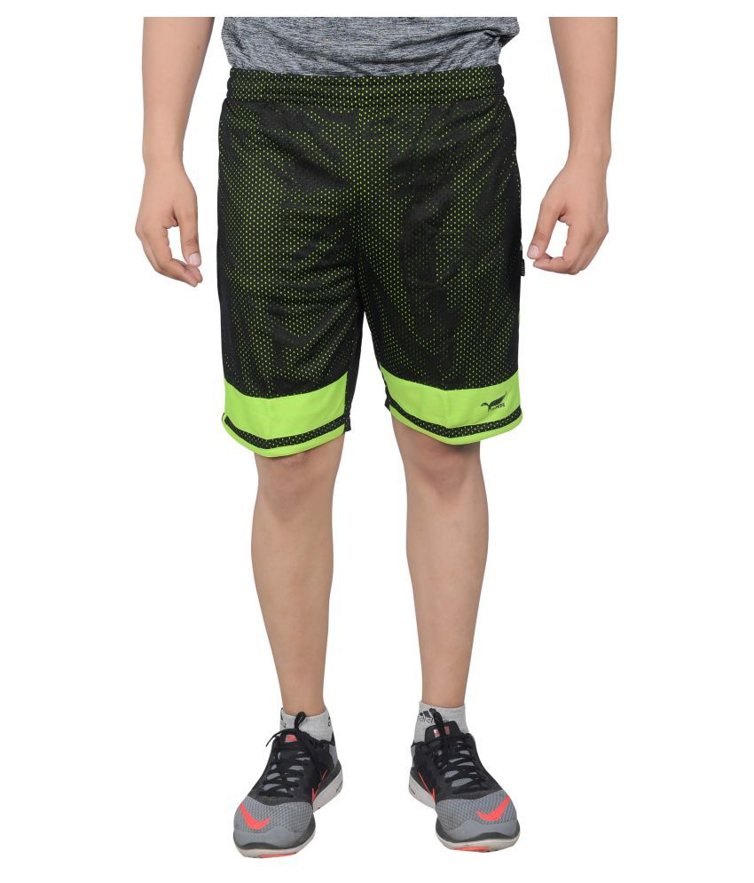 NNN Green Polyster Shorts
